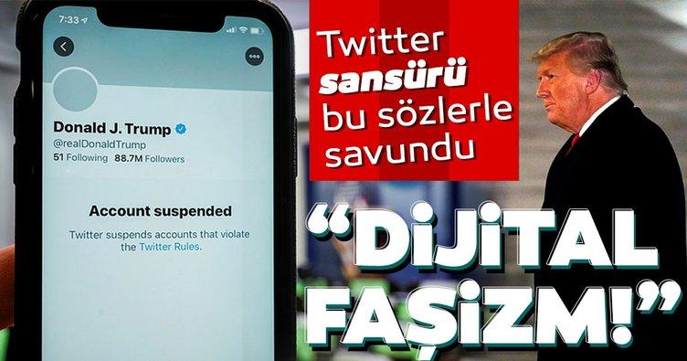 Dijital faşizm! Twitter, Trump'a yönelik sansürü böyle savundu