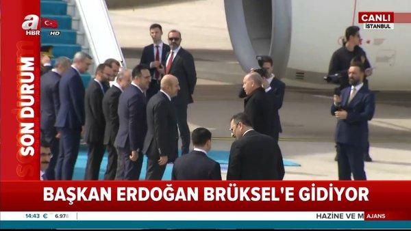 Cumhurbaşkanı Erdoğan'ın resmi törendeki dikkat çeken koronavirüs hassasiyeti kamerada | Video