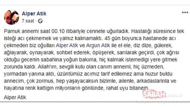 Usta oyuncu Ayşegül Atik kalp krizi sonucu hayatını kaybetti! Oğlu Alper Atik acı haberi böyle duyurdu