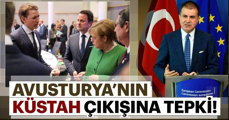 AB Bakanı Çelik'ten Avusturya Başbakanı Kurz'a tepki