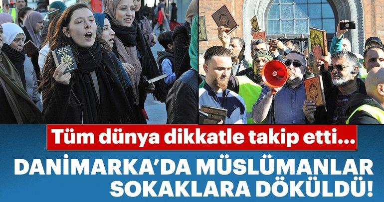 Danimarka'da Müslümanlardan dikkat çeken yürüyüş!
