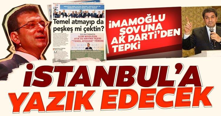 AK Parti'den CHP'nin Temel Atmama Töreni şovuna çok sert tepki