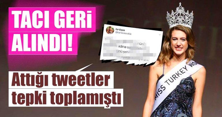 Son dakika... Miss Turkey 2017 güzeli Itır Esen'in tacı geri alındı