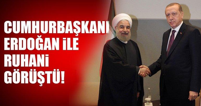 Son dakika: Erdoğan, Ruhani ile görüştü