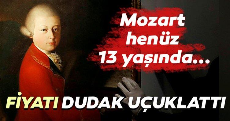 Mozart henüz 13 yaşında...Fiyatı dudak uçuklattı