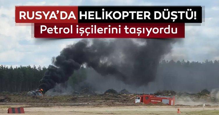Rusya'da helikopter düştü:18 ölü