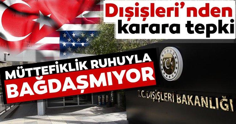 Son dakika haberi: Türkiye'den ABD'nin F-35 kararına tepki