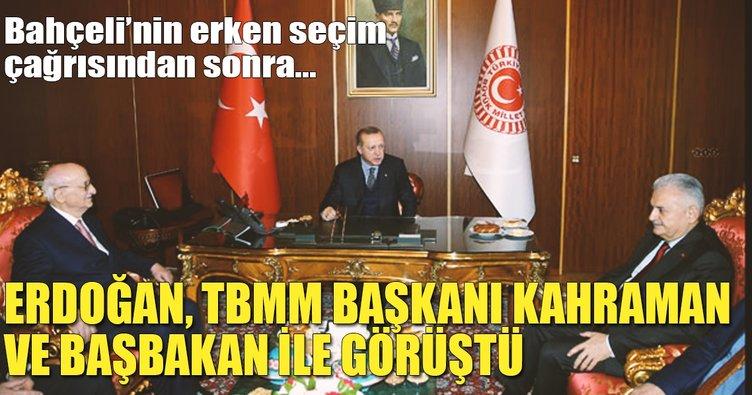 Cumhurbaşkanı Erdoğan parti kurmaylarıyla toplantı yapıyor