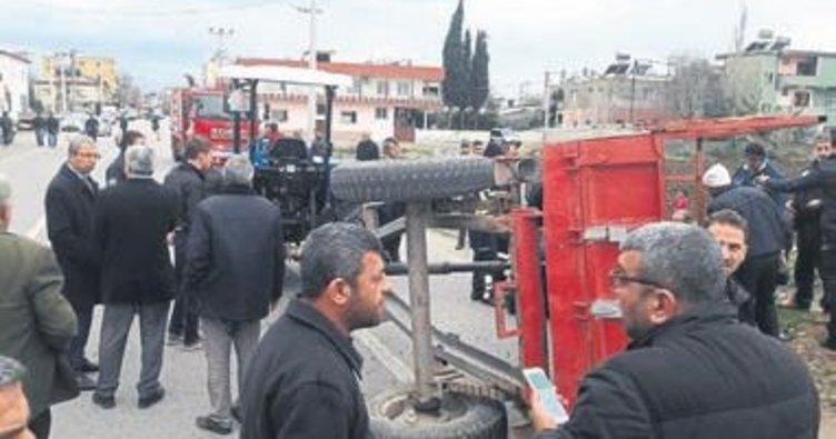 Hatay'da tarım işçilerini taşıyan traktör devrildi