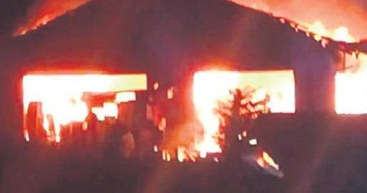 Achern Camisi'nde şüpheli yangın