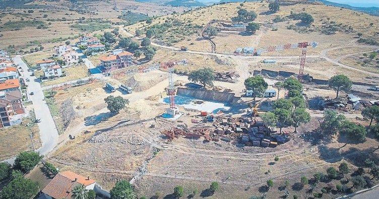 Bergama'daki TOKİ konutları yükseliyor