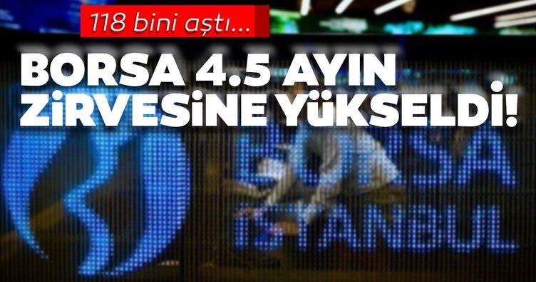 Borsa İstanbul 4.5 ayın zirvesine yükseldi!
