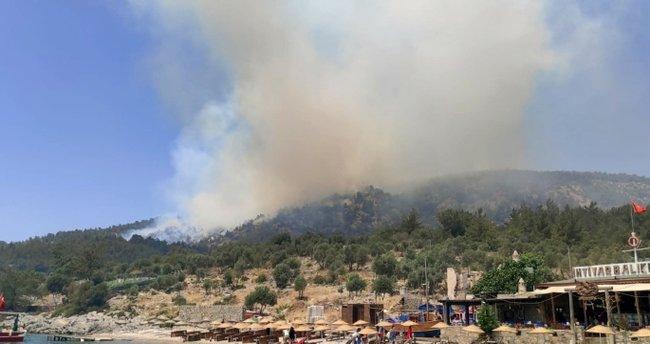 Son dakika: Milas'ta korkutan yangın! Ekipler alarma geçti