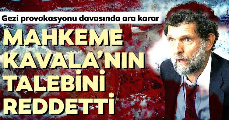 Son dakika: Gezi Parkı provokasyonu davasında ara karar