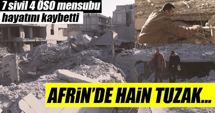Son dakika... Afrin'de terör örgütünün tuzakladığı binada patlama: 11 ölü