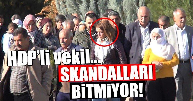 HDP'li vekil terörist cenazesine katıldı!