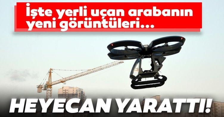 Yerli uçan araba 'CEZERİ'nin yeni görüntüleri heyecanlandırdı!