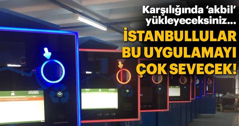 İstanbulluları sevindiren uygulama: Pet şişe karşılığında 'akbil'