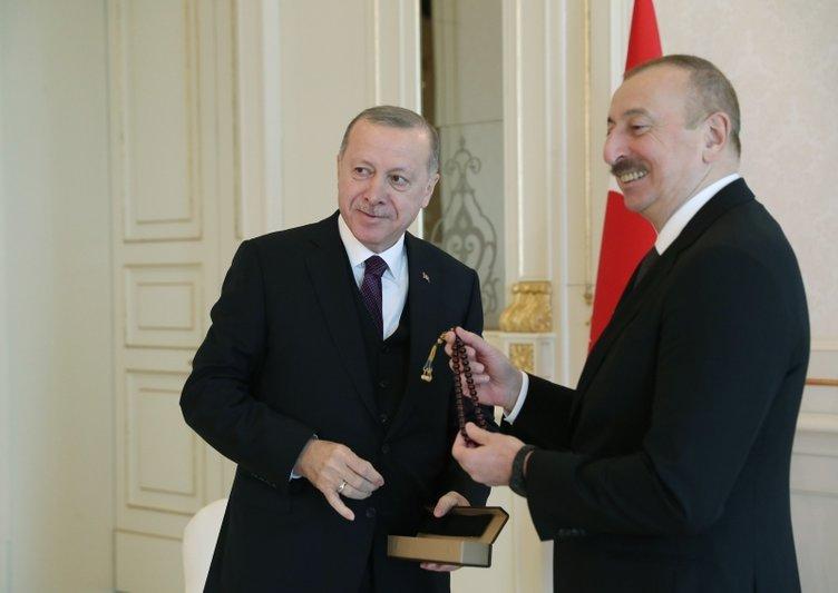 Başkan Erdoğan, Azerbaycan Cumhurbaşkanı Aliyev ile görüştü