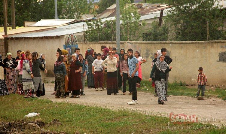 Erzurum'da korku dolu anlar! 200 kişi birbirine girdi