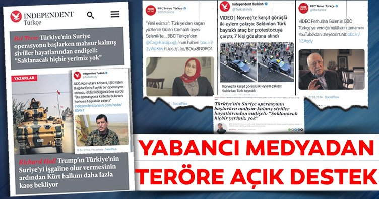 Yabancı medyadan teröre açık destek