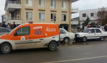 Binada doğalgaz patladı: 2 yaralı