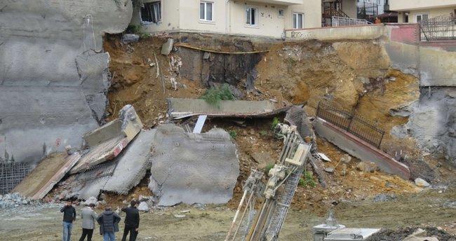 """İstinat duvarı çöktü: """"Deprem oluyor zannettik"""""""