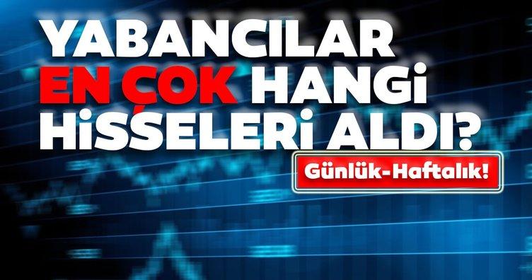Borsa İstanbul'da günlük-haftalık yabancı payları 21/09/2020