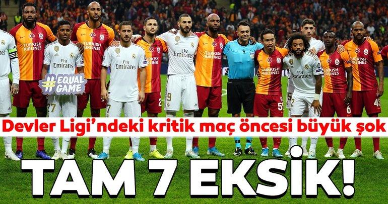 Real Madrid - Galatasaray maçı öncesi büyük şok! Tam 7 eksik