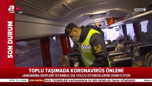 Toplu taşımada koronavirüs önlemi! Seyahat belgesi olmayan 65 yaş üstündeki kadın evine götürüldü! | Video