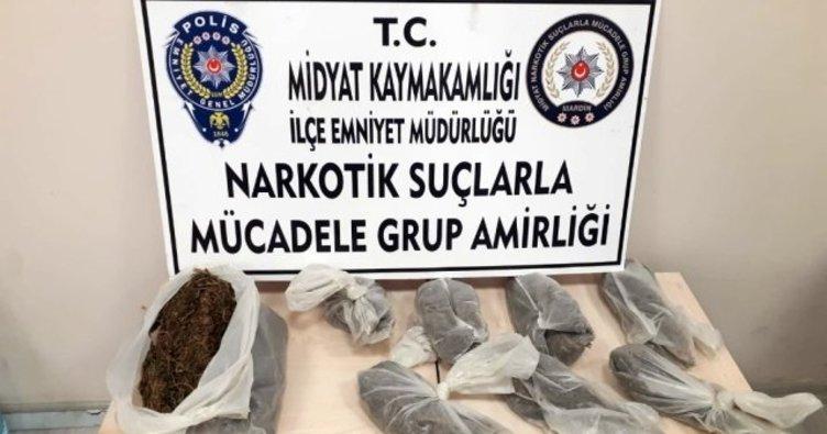 Midyat'ta uyuşturucu tacirlerine operasyon