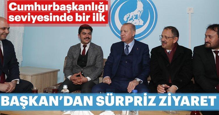 Başkan Erdoğan'dan Ülkü Ocakları'na ziyaret! Tarihte bir ilk oldu