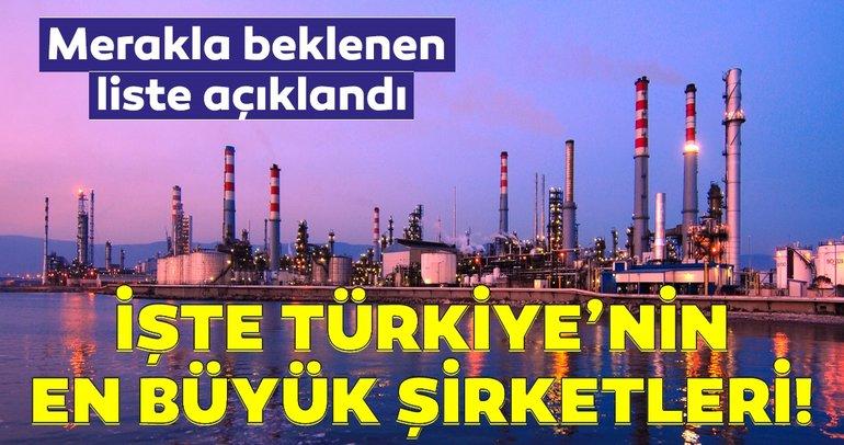 Merakla beklenen liste açıklandı! İşte Türkiye'nin en büyük şirketleri