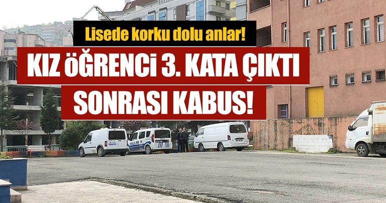 Zonguldak'ta lisede korku dolu anlar! Kız öğrenci, 3'üncü kattan atlayarak ağır yaralandı