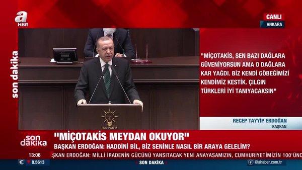 Cumhurbaşkanı Erdoğan'dan Yunan Başbakanı Miçotakis'e çok sert tepki