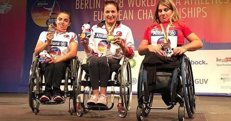 Engelli milli atlet Hamide Doğangün Avrupa şampiyonu oldu