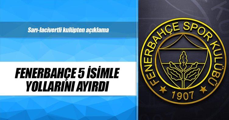 Fenerbahçe, 5 kadın voleybolcu ile devam etmeyecek
