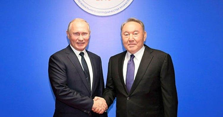 Rusya Devlet Başkanı Putin Kazakistan'da