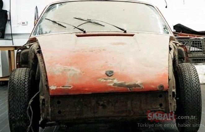 Hurda Porsche'nin inanılmaz geri dönüşü! Gözlerine inanamadılar...