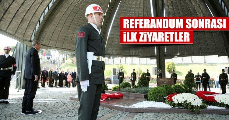 Cumhurbaşkanı Erdoğan'dan referandum sonrası önemli ziyaretler