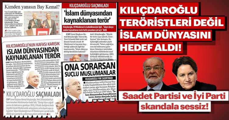 Kılıçdaroğlu teröristleri değil, İslam dünyasını hedef aldı!