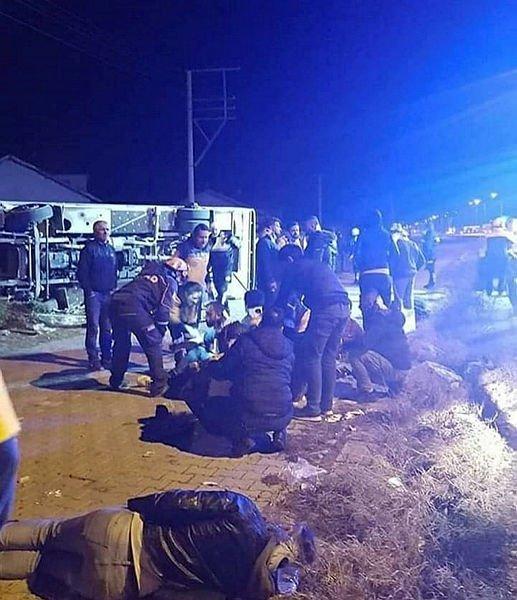 Ankaragücü taraftarları kaza yaptı: 2 ölü, 24 yaralı