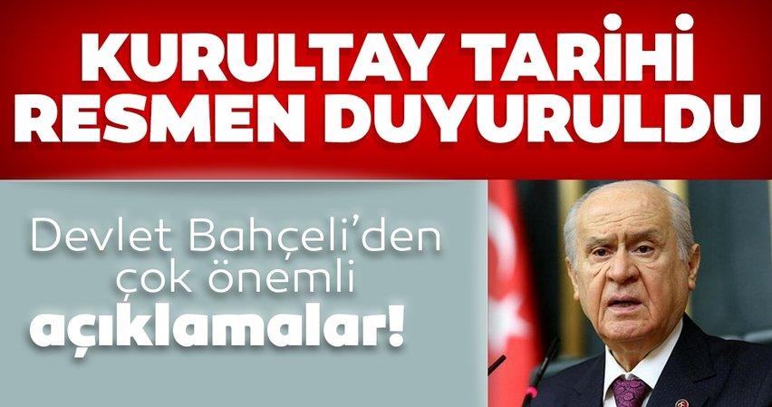 Son dakika: Devlet Bahçeli duyurdu: MHP'de kurultay tarihi belli oldu...