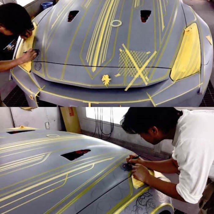 Müthiş Araba Boyama Sanatı Galeri Otomobil