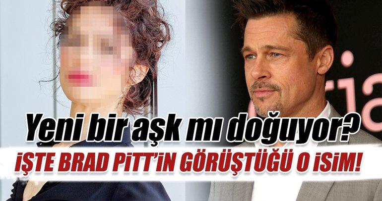 Yeni aşk mı doğuyor? İşte Brad Pitt'in görüştüğü o isim...