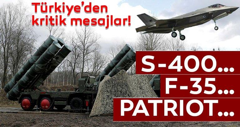 Türkiye'den S-400'ler için net mesaj! 'Kimsenin rahatsız olmaması lazım'