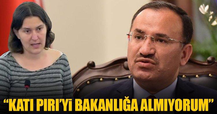 Bakan Bozdağ: Kati Piri'yi Bakanlığa almıyorum