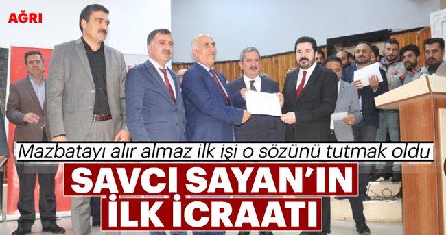 Ağrı Belediye Başkanı Sayan'ın ilk icraatı