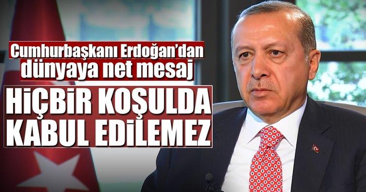 Cumhurbaşkanı Erdoğan'dan Katar açıklaması