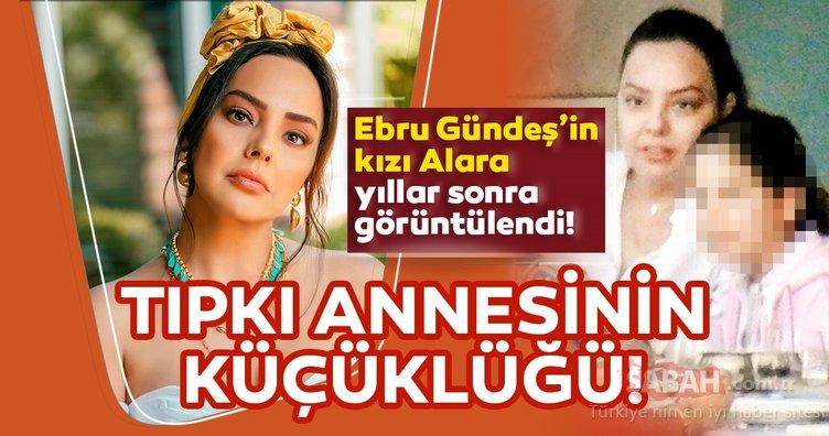 Ebru Gündeş kızı Alara ile yıllar sonra görüntülendi! Ebru Gündeş'in kızı Alara tıpkı annesinin küçüklüğü...